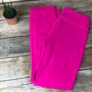 Lululemon size X Small Hot pink neon yoga pants